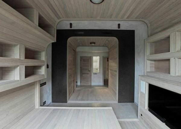 komplett aus Holz einrichtung platten warm Apartment