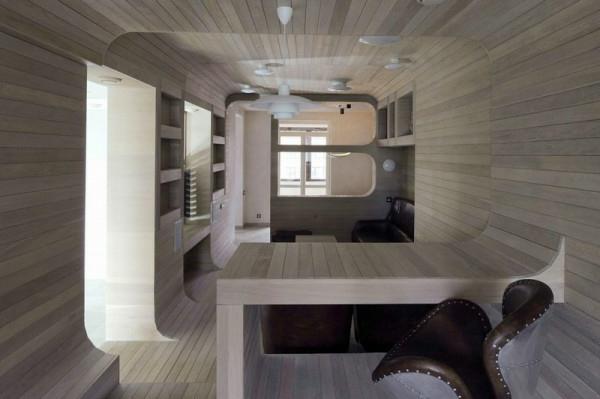 Apartment komplett aus Holz kompakt design