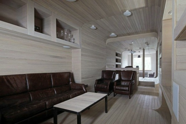 Apartment komplett aus Holz wohnzimmer leder wohnlandschaft