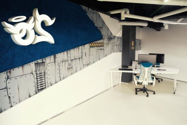 Attraktives Büro wie ein Raumschiff arbeiten