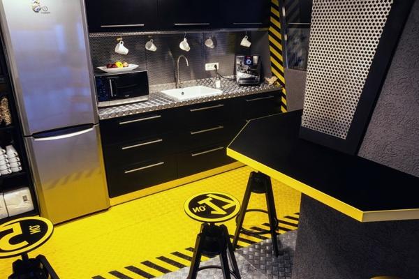futuristisches Büro wie ein Raumschiff küche futuristisch metall