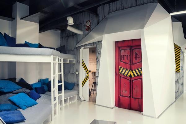 Büro wie ein Raumschiff leiter auflagen tür