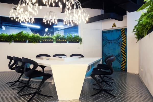 Büro wie ein Raumschiff stilvoll beleuchtung