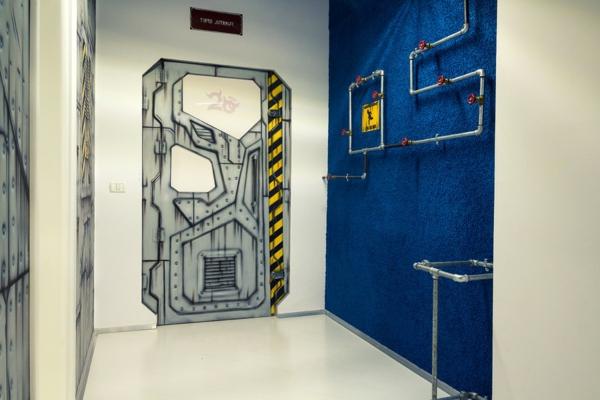 Büro wie ein Raumschiff wandkunst originell