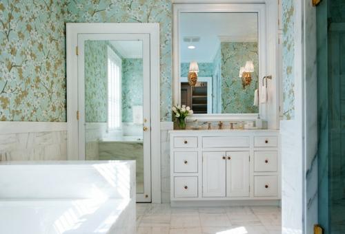 Ausgefallene Einrichtungsideen für Wandspiegel badezimmer tapeten