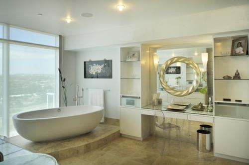 Ausgefallene Einrichtungsideen für Wandspiegel badezimmer toilettentisch