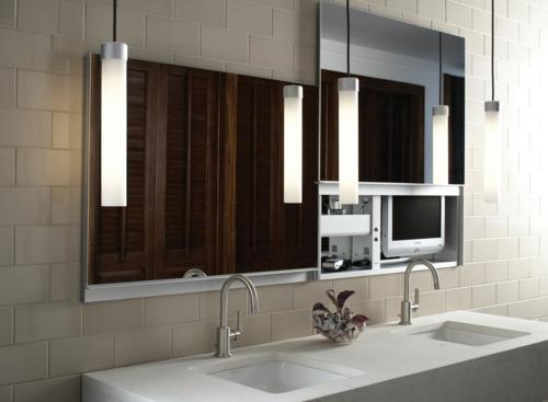 Ausgefallene Einrichtungsideen für Wandspiegel badezimmer waschbecken