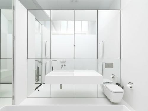 Ausgefallene Einrichtungsideen für Wandspiegel badezimmer weiß