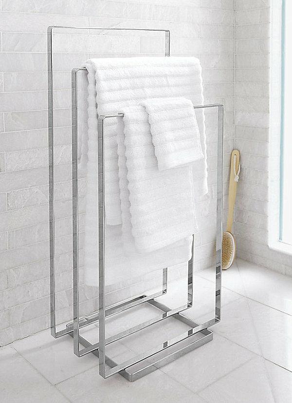 Badzubehör und Badeinrichtung handtuchhalter metall cb2 design
