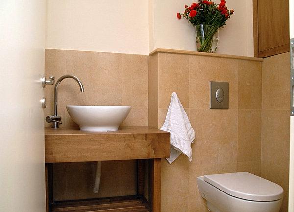 Badeinrichtung holz waschticsh gästebadezimmer Badzubehör