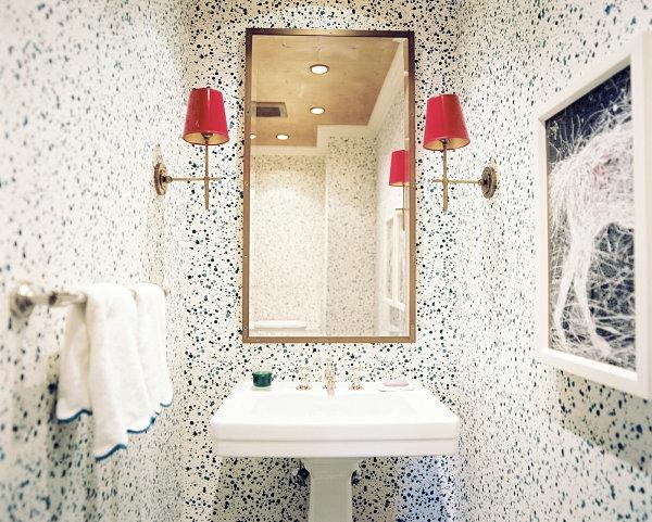 Badzubehör und Badeinrichtung spiegel wandlampen rot
