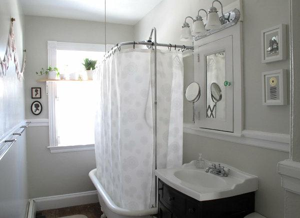 Wohnideen fürs badzubehör und badeinrichtung, die den raum vergrößern