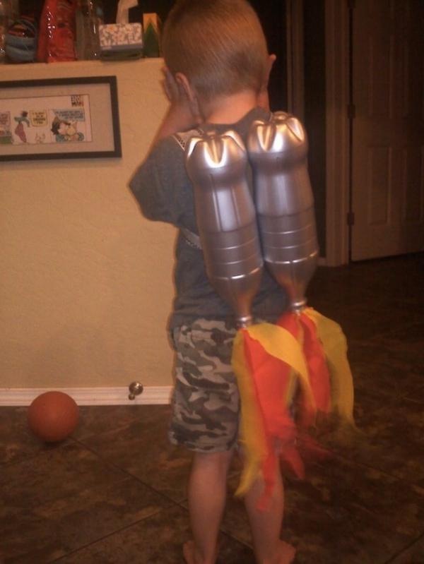 Kinder karton raketen sack Basteln