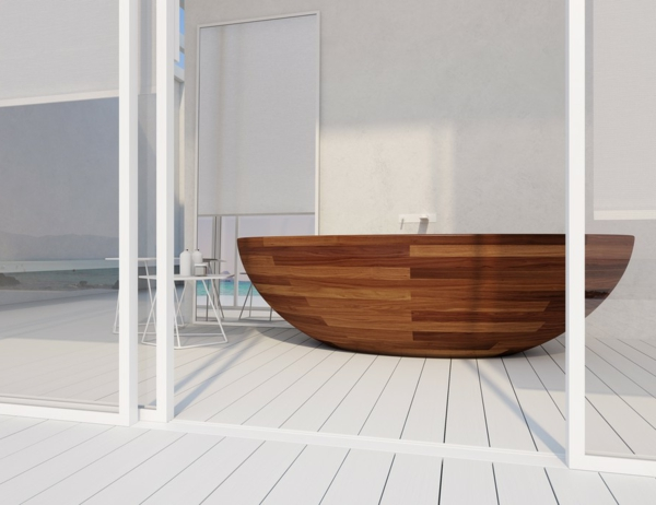Baula amerikanisch walnuss badewanne aus holz