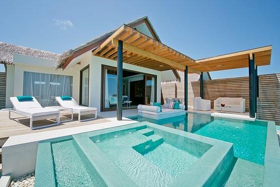 Beach Resort auf den Malediven Flitterwochen da