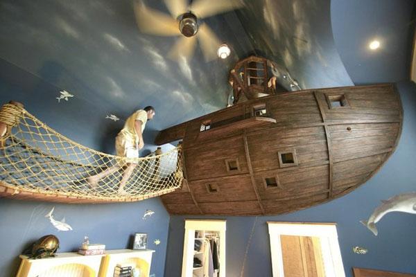 Betten für Ihr Schlafzimmer im Dachgeschoss holz boot schiff