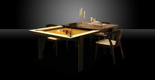 Billardtisch für kleine Räume esstisch glanzvoll schwarz