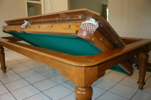 Billardtisch für kleine Räume esstisch vintage look