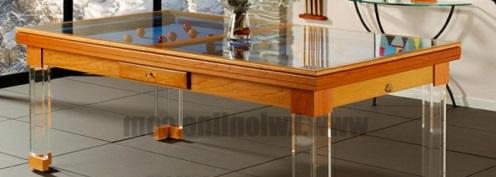 Billardtisch für kleine Räume glas holz rahmen gestell