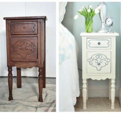 diy dekoideen f r bemalte m bel verzieren sie ihr altes mobiliar. Black Bedroom Furniture Sets. Home Design Ideas