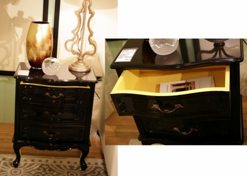Dekoideen für bemalte Möbel kommode schwarz gelb viktorianisch