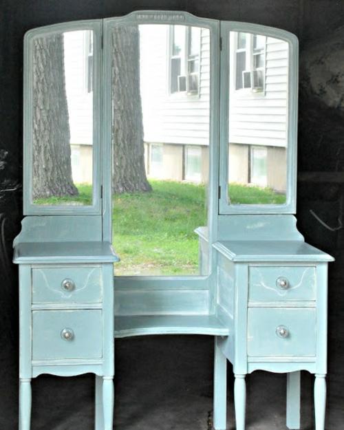 Dekoideen für bemalte Möbel schubladen spiegel klassisch