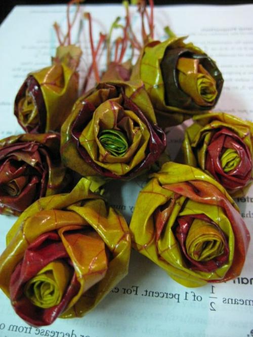 DIY Projekte aus vorhandenen Stoffen blätter rosen
