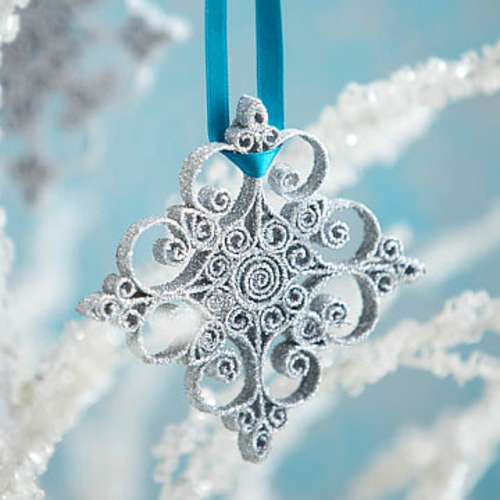 diy weihnachten dekorationen schneeflocke glanz glitzern - Diy Weihnachtsdeko Basteln