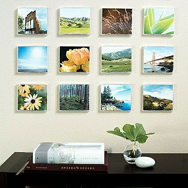 DIY Wohnideen cd hüllen bilder fotos puzzle