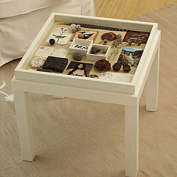 DIY Wohnideen nebentisch holz weiß alt klassisch