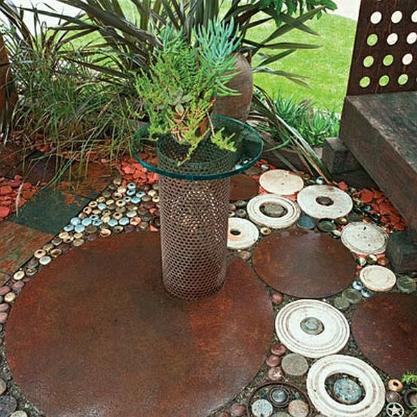 DIY Wohnideen rohre pflanzenbehälter blumen rostresistent