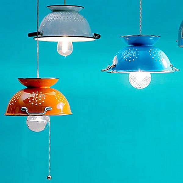 DIY Wohnideen schalen metall glühbirnen schüssel