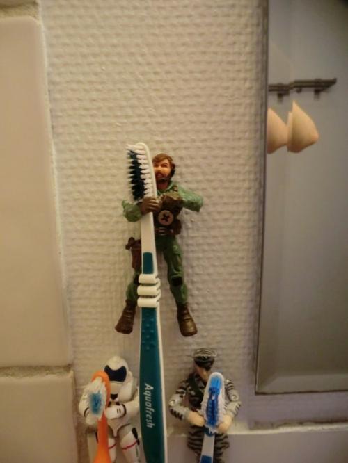 15 DIY Zahnbürstenhalter Ideen - ganz außergewöhnlich