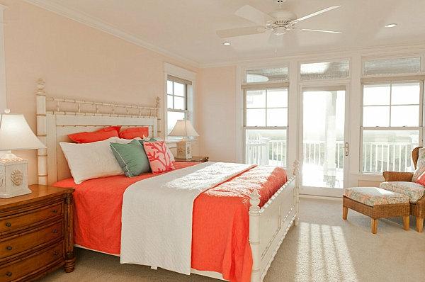 Das Interieur mit Farben bedecken bettwäsche schlafzimmer