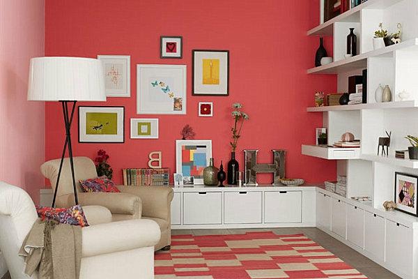 Wandfarbe Korall ~ Inspiration über Haus Design