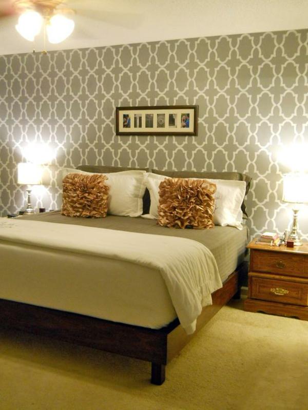 günstig einrichten doppelbett nachttisch schlafzimmer