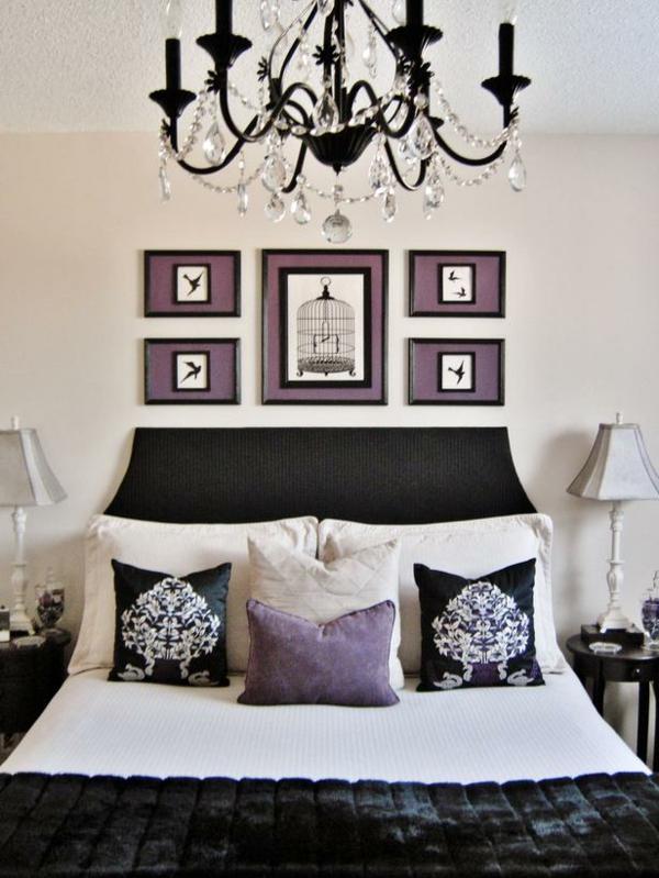 günstig einrichten gemälde kronleuchter kissen samt schlafzimmer