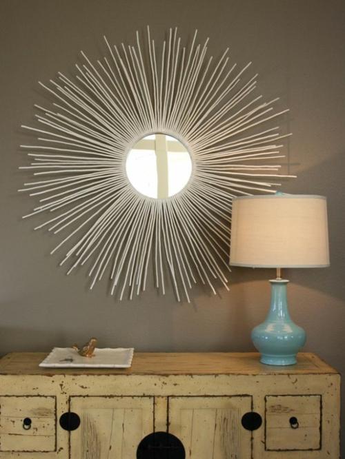 15 dekoideen f r diy wandspiegel rahmen kreativ und. Black Bedroom Furniture Sets. Home Design Ideas