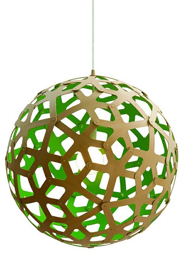 zu Hause hängelampen rund lampenschirm holz Die Beleuchtung