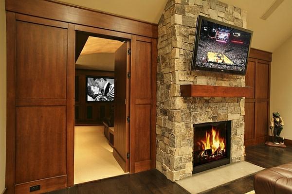 Die besten Ideen für Wohnzimmer einbaukamin stein