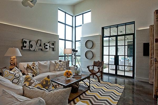 Die besten Ideen für Wohnzimmer ikat muster frieden sofas kissen