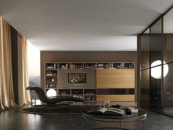 Die besten Ideen für Wohnzimmer liege leder rund tisch