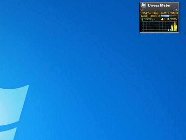 Drives Meter Nützliche kostenfreie Gadgets fürs Windows 7 Desktop