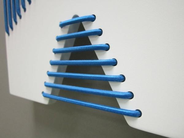 Einmalige Korsett Wandfliesen handgefertigt schnur blau