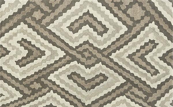 Eklektische Inneneinrichtung teppich geometrisch wolle