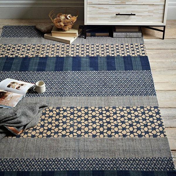 Eklektische Inneneinrichtung teppich muster rustikal