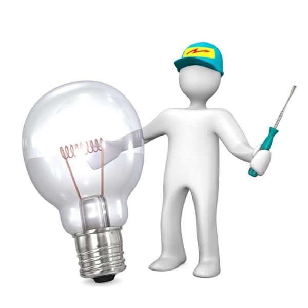 Elektriker Electrician Big Bulb