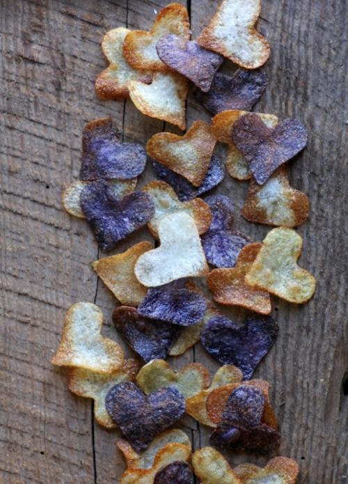 billige Dekoideen für Weihnachtsgeschenke Kartoffelchips