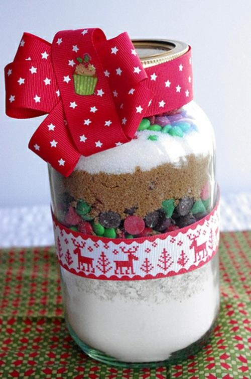 Günstige Dekoideen für Weihnachtsgeschenke cookies einweckglas