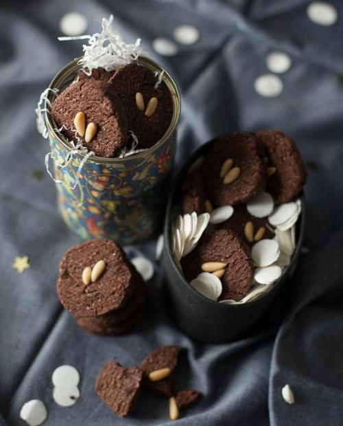 Dekoideen für Weihnachtsgeschenke cookies schokoladen